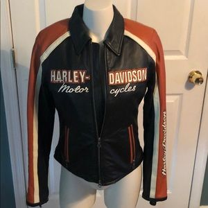 Harley Davidson woman's leather riding jacket